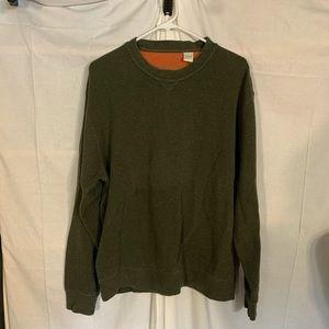 Orvis men's cotton knit crew neck sweater L